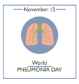 Pneumonia Day vector image vector image