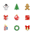 Christmas icons and buttons vector image vector image