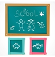 Back to school board vector image