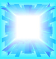Blue portal in the sky vector image