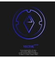 Compass Flat modern web button and space for your vector image