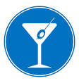 Martini sign is allowed to drink vector image