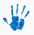 Open hand imprint vector image