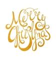 Gold handwritten inscription Merry Christmas vector image vector image