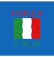 forza italia typography t-shirt graphics vector image