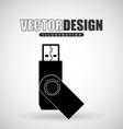 usb plug design vector image