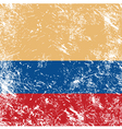 Colombia retro flag vector image vector image