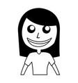 black icon women upperbody cartoon vector image