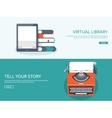 Flat typewrite Tell your vector image