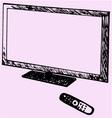 modern TV remote control vector image