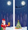santa claus with gift bag vector image