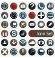 Set of round icons for mobile app and web vector image