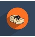Sneakers shoes flat doodle icon vector image