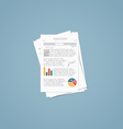 Report documents vector image