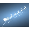 Santa Claus in sled rides reindeer vector image