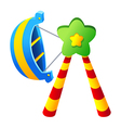icon amusement park rides vector image vector image