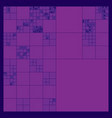 subdivided squares grid system randomly sized vector image
