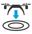 Copter Arrival Icon vector image