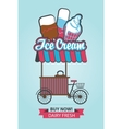 ice cream on wheels vector image