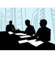 Businessmen Meeting Silhouette vector image