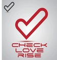 check love rise logo vector image