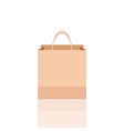 Empty shopping bag isolated vector image