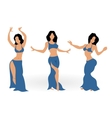 Girls belly dancing vector image