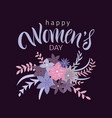 greeting card with international womens day vector image