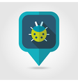Ladybug flat pin map icon vector image