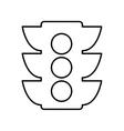 semaphore light traffic icon vector image