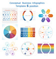 set templates infographics for six positions text vector image