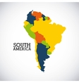 South america design vector image