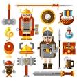 Vikings Icons Set vector image