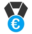 Euro Champion Medal Flat Icon vector image
