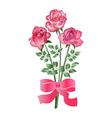 bouquet of three roses vector image vector image