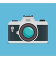 photocamera blue background design graphic vector image