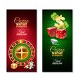 Casino Night 2 Vertical Banners Set vector image