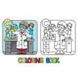 chemist coloring book profession abc alphabet c vector image
