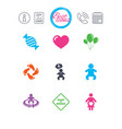 pregnancy maternity and baby care icons vector image
