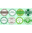 Set of eco friendly labels and stamps vector image