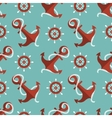 navigation seamless pattern with an anchor and a vector image