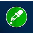 dropper icon picker tube chemistry pipet vector image