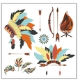 Set ethnic style arrows feathersbow war bonnet vector image
