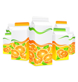 packing lot orange juice vector image vector image