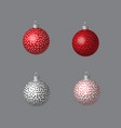 decorative balls dotted for christmas tree vector image