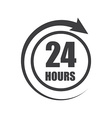 Icon of symbol sign Open around the clock or 24 vector image