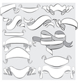 Medieval abstract ribbons crolls banners - vector image