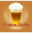 Premium Beer Emblem vector image