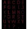 Scribbles alphabet vector image