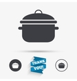 Cooking pan sign icon Boil or stew food symbol vector image